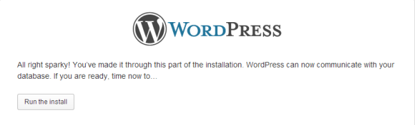 Configure WordPress Step 3