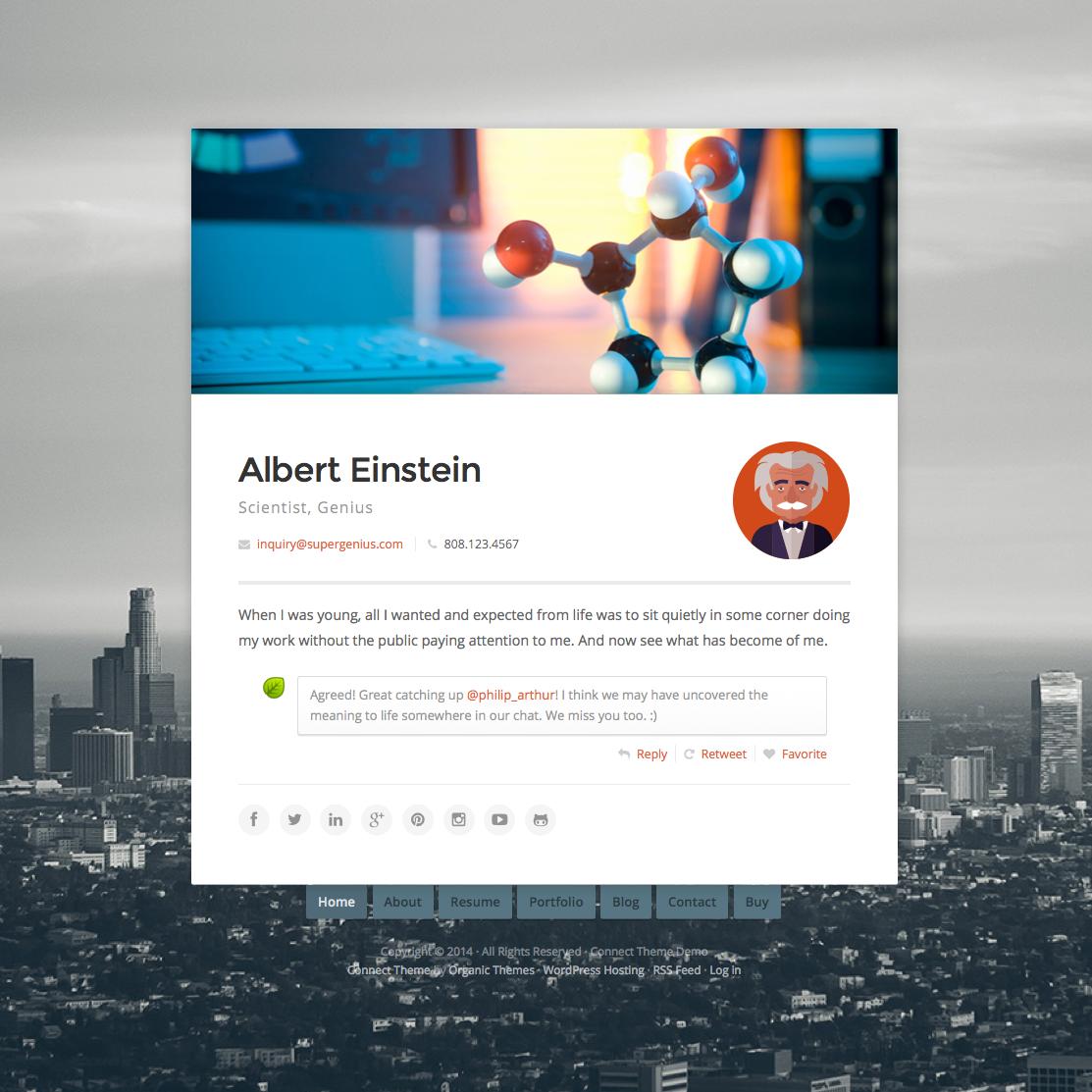 Connect virtual business card wordpress theme wpexplorer magicingreecefo Gallery