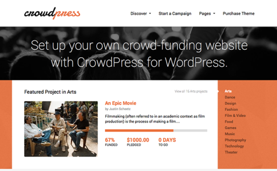 CrowdPress WordPress Theme