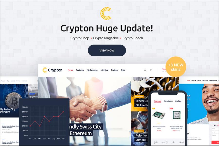 Crypton - Multi-Purpose Cryptocurrency WordPress Theme