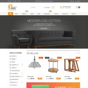 Dash Handmade Furniture Marketplace WordPress Theme