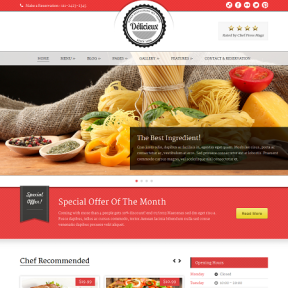 Delicieux Restaurant WordPress Theme
