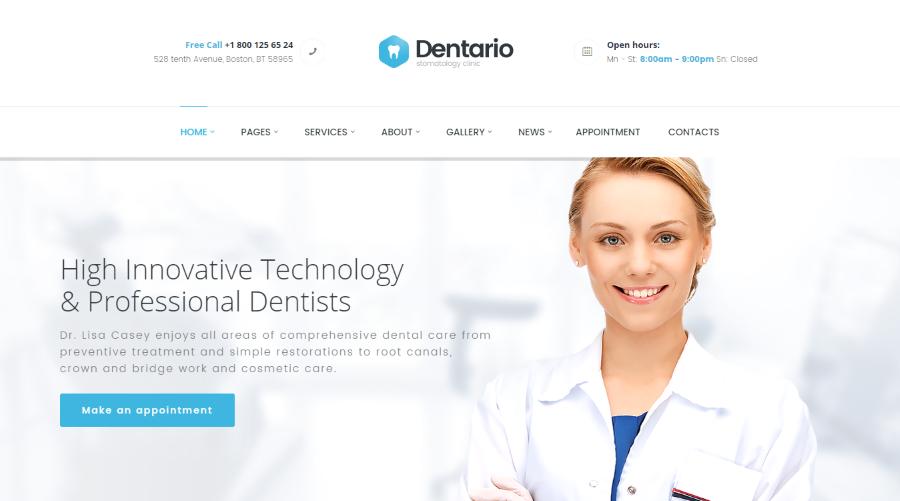 Dentario Dental WordPress Theme