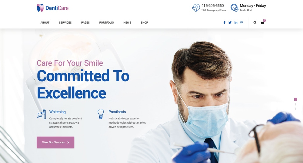 DentiCare - Medical, Dentist & Dental Clinic