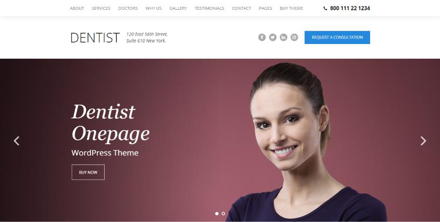 Dentist Dental WordPress Theme