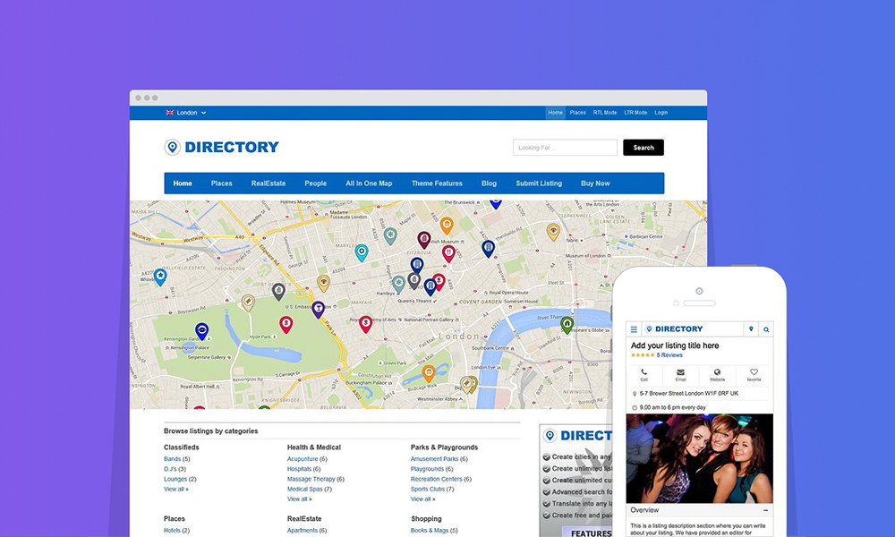 Best WordPress themes: Directory WordPress Theme