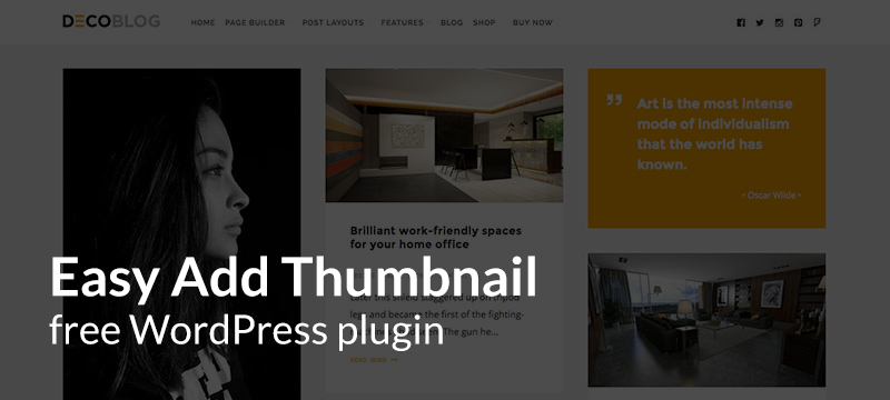 Easy Add Thumbnail Plugin