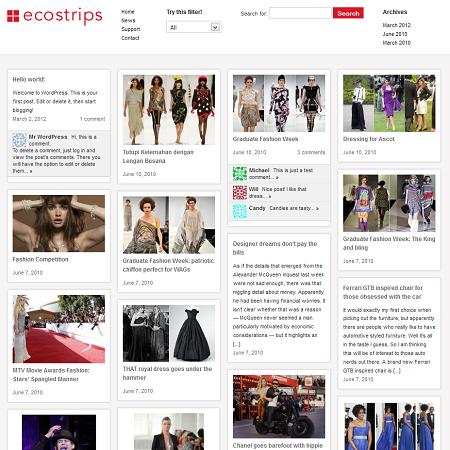 ecoStrips Pinterest Style WordPress Theme