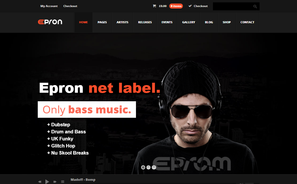 epron wordpress music theme