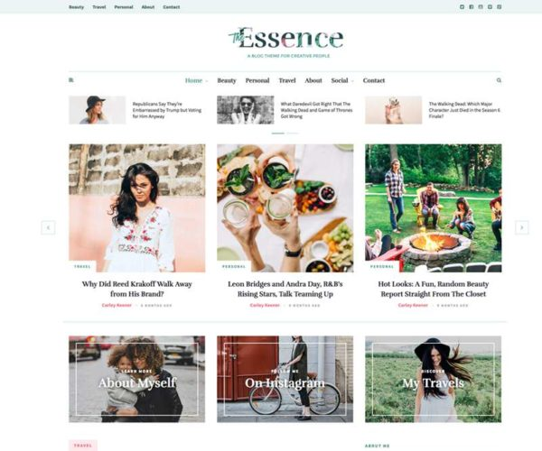 The Essence A Responsive WordPress Blog Theme