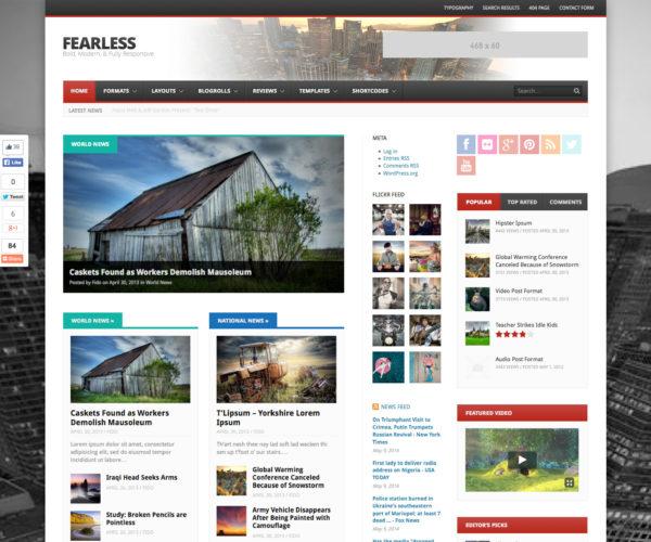 Fearless News & Magazine WordPress Theme