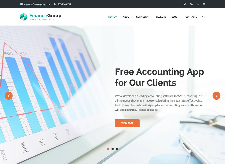 FinanceGroup Accounting BusinessWordPress Theme