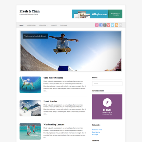 Fresh & Clean Free Minimal WordPress Theme