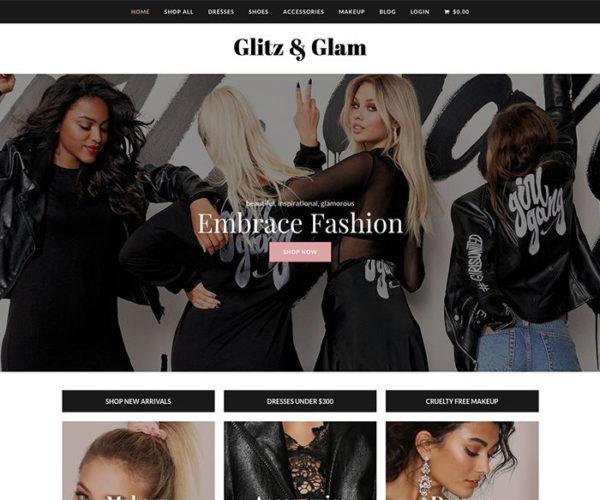 Glitz & Glam Total eCommerce WordPress Theme Design