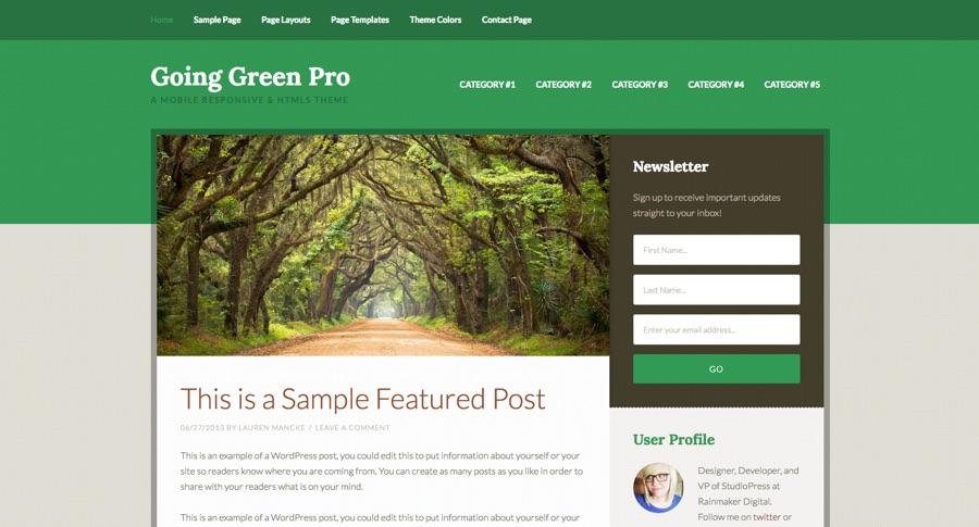 Going Green Genesis WordPress Theme