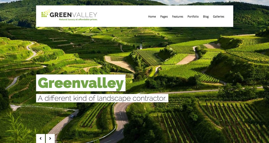Green Valley WordPress Theme