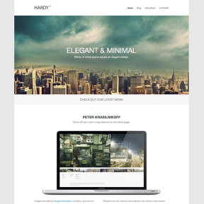 Hardy Portfolio WordPress Theme