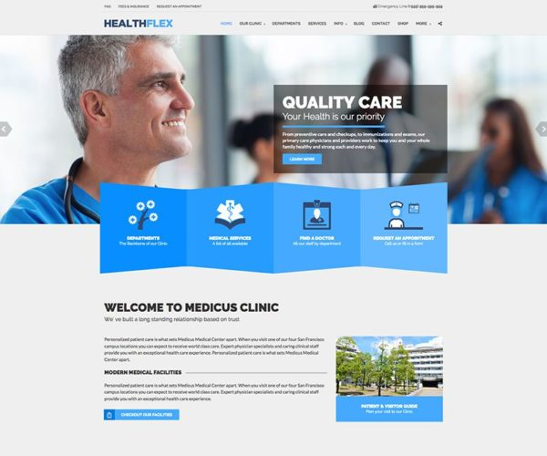 Healthflex Medical & Health WordPress Theme