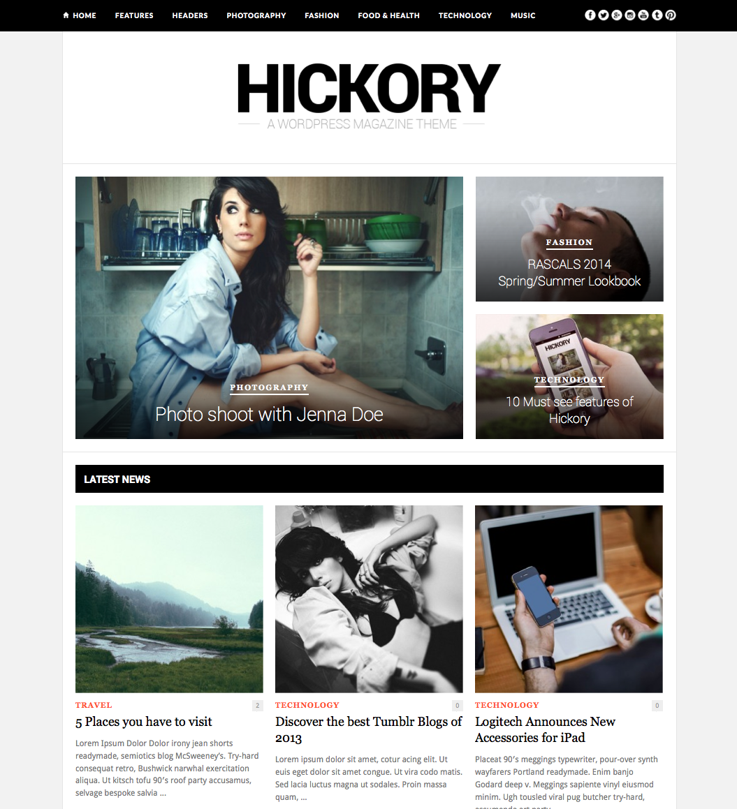 Hickory Magazine Wordpress Theme Wpexplorer