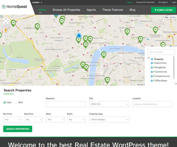 HomeQuest Real Estate Directory Child Theme