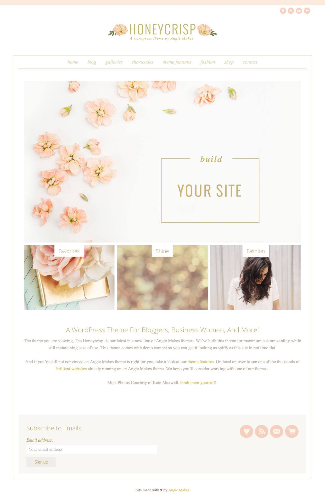 Honeycrisp Pretty Girly Blog WordPress Theme - WPExplorer Girly Blog Shop