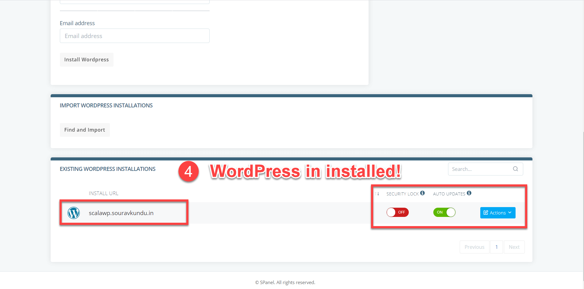how to install wordpress scala hosting wordpress manager part 3