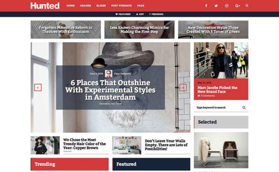 Hunted Editorial Magazine WordPress Theme