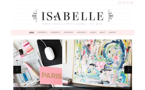 Isabelle Girly WordPress Theme
