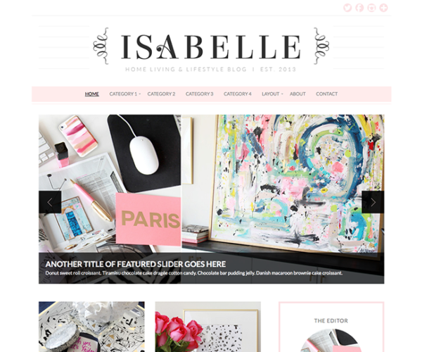 Isabelle Girly WordPress Theme