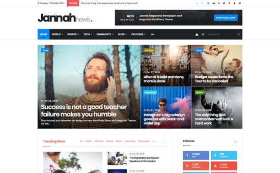 Jannah Newspaper, Magazine & AMP News WordPress Theme