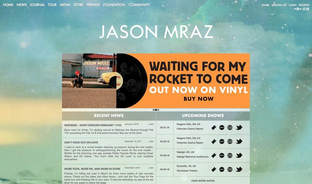 Big Name Brands That Use WordPress: Jason Mraz