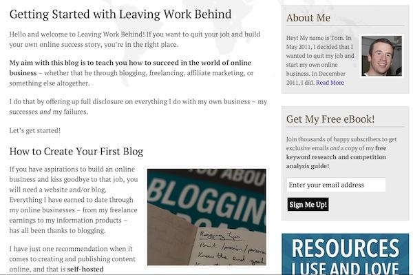 Leaving Work Behind Start Here Page