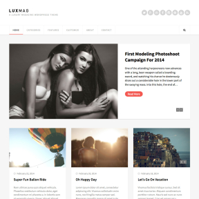 LuxMag Responsive Blog & Magazine WordPress Theme