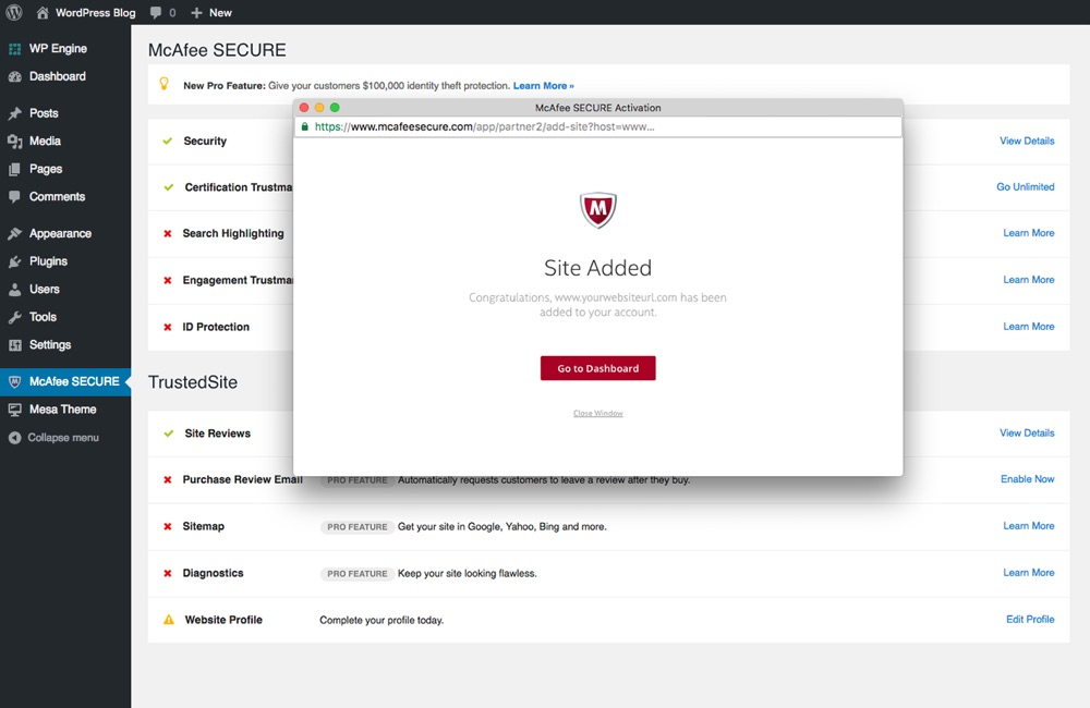 Increase Website Credibility with McAfee SECURE for WordPress
