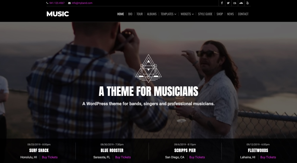 Music & Band WordPress Theme