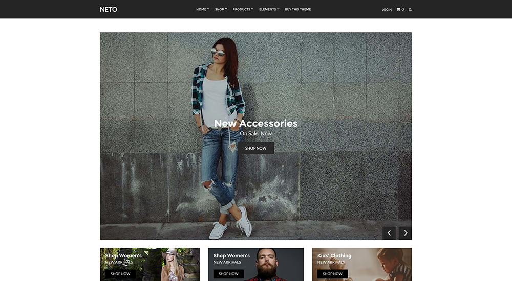 Neto eCommerce WordPress Theme