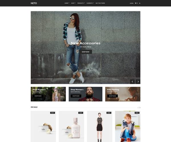 Neto WooCommerce Store WordPress Theme