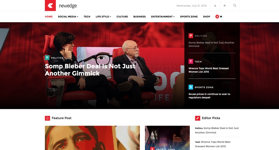NewEdge Responsive WordPress Magazine Theme