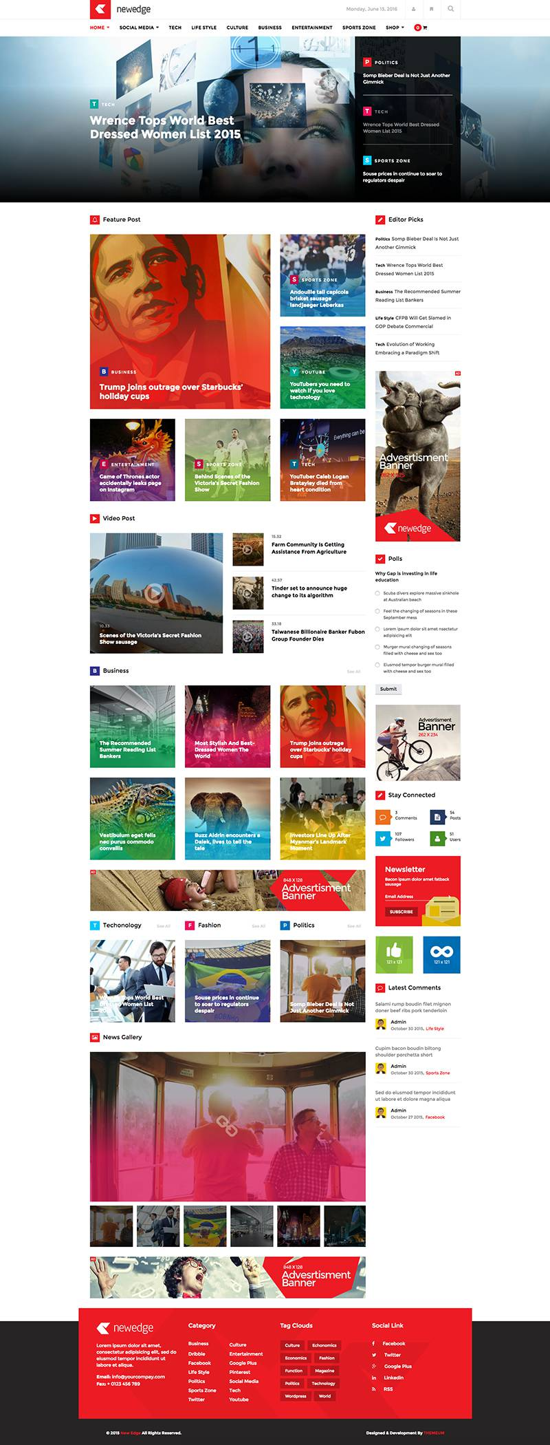 NewEdge Responsive WordPress Magazine Theme - WPExplorer