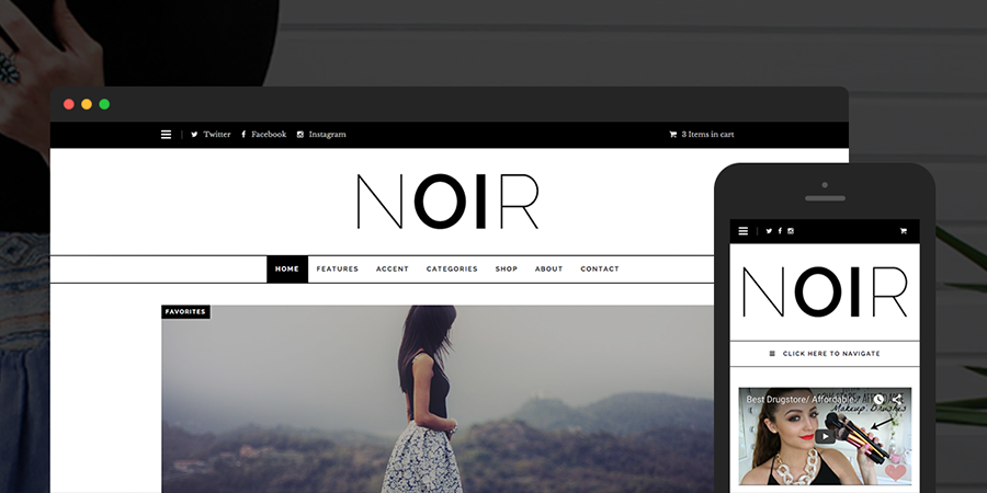 Noir Simple WordPress Theme for Infoprenuers