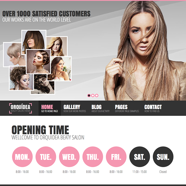 Orquidea Beauty Salon Girly WordPress Theme - WPExplorer