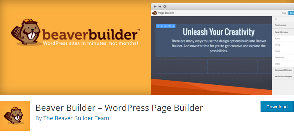 The Beaver Builder plugin.