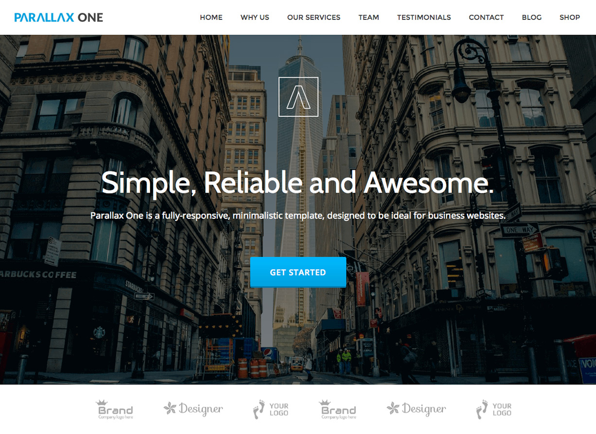 Parallax One Free Business WordPress Theme
