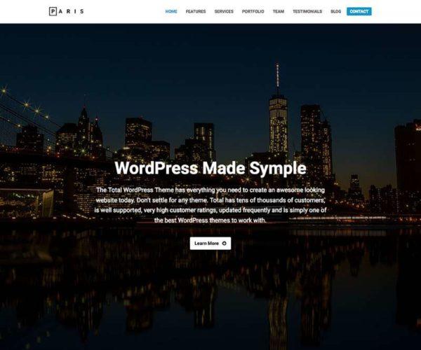 Paris Business Total WordPress Theme Demo