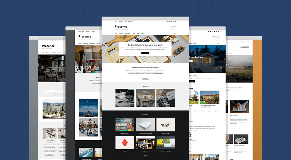 Best WordPress themes: Presence WordPress Theme