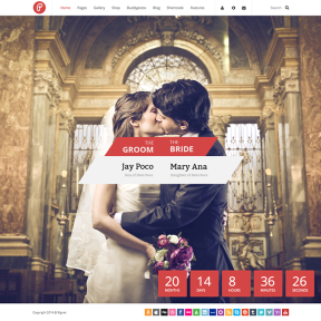 Pump Wedding WordPress Theme