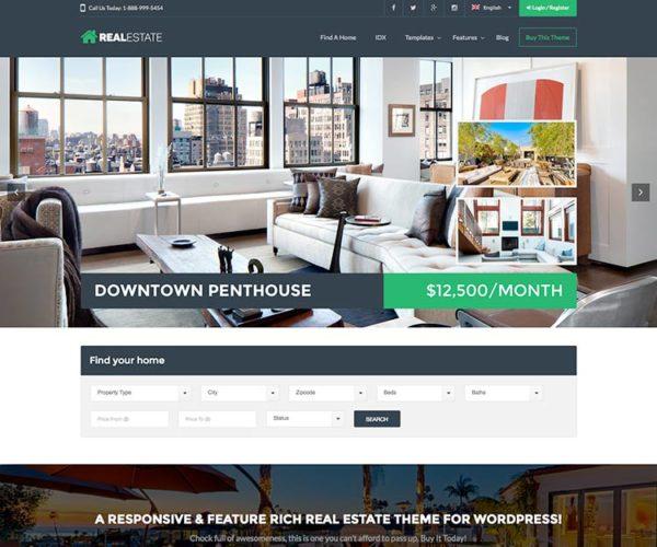 Real Estate 7 Responsive WordPress Theme