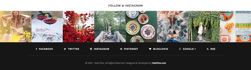 Redwood WordPress Theme with Instagram Widget