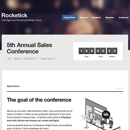 Rocketick Events WordPress Themes