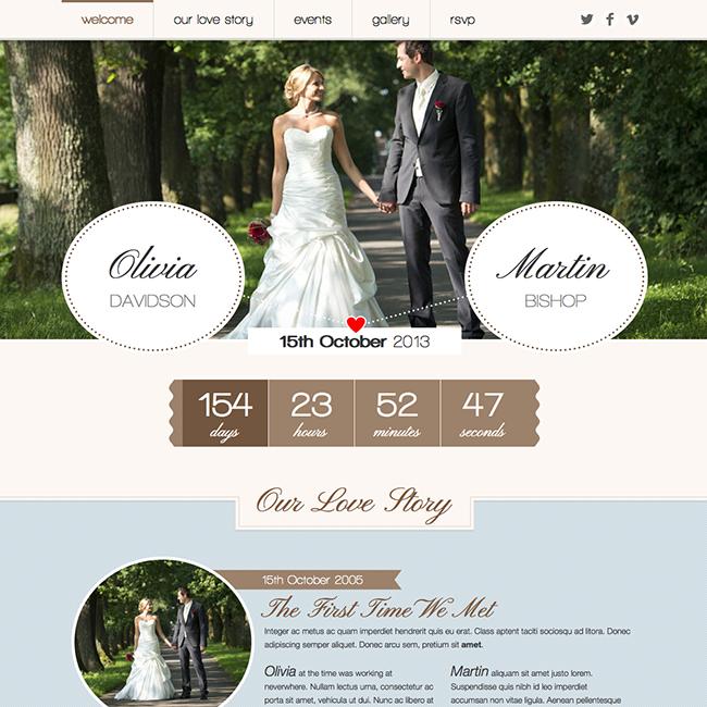 Romantic Wedding WordPress Theme - WPExplorer